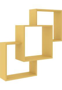 Nicho Composto- Amarelo- 84X78,4X20Cm- Movel Benmovel Bento