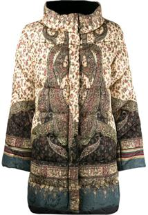 Etro Paisley Print Padded Coat - Neutro