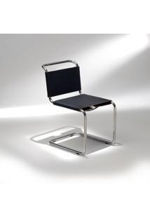 Cadeira Spoleto Couro E Aço Inox Studio Mais Design By Marcel Breuer