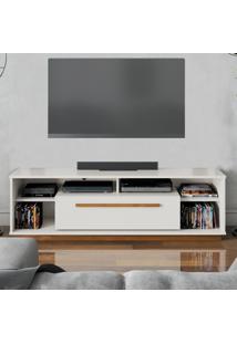 Rack Para Tv Mônica Off White Amêndoa Casah