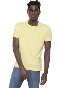 Camiseta Aramis Regular Fit Bordado Amarela