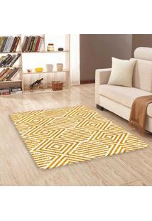 Tapete Sala Wevans Amarelo Geométrico