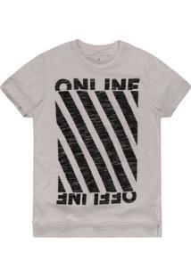 Camiseta Khelf Devorê Online Off White