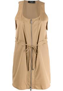Dsquared2 Zipped Mini Dress - Neutro