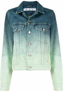 Off-White Jaqueta Jeans Em Degradê - Azul
