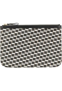 Pierre Hardy Geometric Print Clutch Bag - Preto