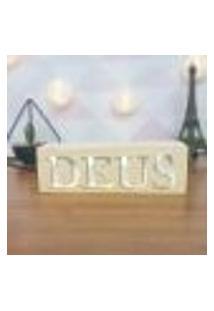 Cubo Decorativo Com Letras Em Acrílico Deus Único