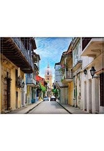 Jogo Americano Decorativo, Criativo E Descolado | Rua Em Cartagena Na Colômbia - Tamanho 30 X 40 Cm