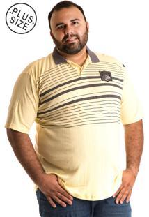 Camisa Polo Konciny Plus Size 10061 Amarelo
