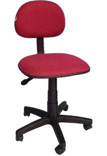Cadeira Giratória Secretária Ibiza Tecido Vermelho