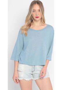 Blusa Com Linho- Azul Claro- Tritontriton