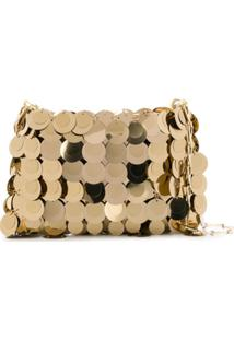 Paco Rabanne Iconic 1969 Paillette-Embellished Shoulder Bag - Dourado