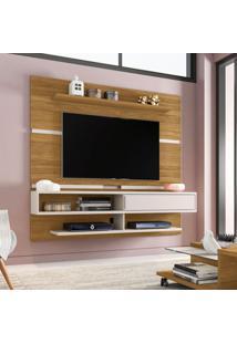 Painel Para Tv Até 65 Polegadas Búzios Flex Color Cinamomo E Off-White
