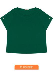 Blusa Feminina Plus Size Verde