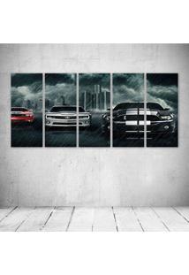 Quadro Decorativo - Muscle Cars - Composto De 5 Quadros