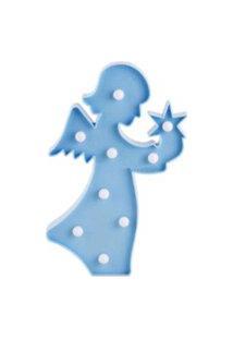 Luminaria Led Abajur Luz Decoracáo Modelo Anjo Azul