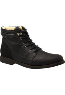 Coturno Couro Nobuck 8615 Doctor Shoes Masculino - Masculino-Preto