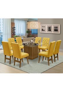 Mesa Para Sala De Jantar Saint Louis Com 8 Cadeiras – Dobuê Movelaria - Mell / Canario