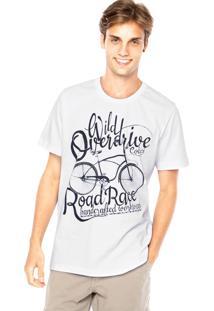 Camiseta Colcci Manga Curta Estampa Branca