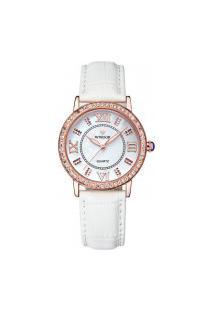 Relógio Feminino Wwoor 8807 - Branco