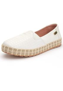 Slip On Casual Ousy Shoes Sola Corda 2019 Branco - Kanui