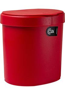 Lixeira De Pia Em Plástico Cozy 2,5 Litros Vermelha