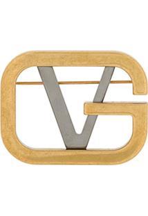 Versace Broche De Logo - Metálico
