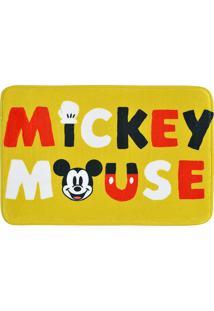 Tapete De Banho Mickey Mouseâ®- Amarelo & Branco- 59,Mabruk