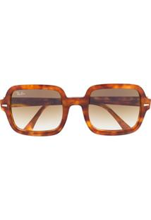 Ray-Ban Tortoiseshell Oversized-Frame Sunglasses - Marrom