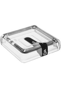 Saboneteira Cube Cristal Brinox