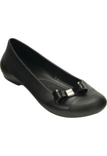 Sapatilha Crocs® Gianna Bow Flat- Pretacrocs