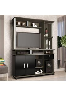 Estante Para Tv Até 32 Polegadas Luxo 3022 Jb Bechara Teka/Preto