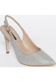 Sapato Chanel Em Couro - Branco & Preto - Salto: 11Cjorge Bischoff