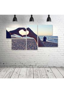 Quadro Decorativo - Love-Mar - Composto De 5 Quadros