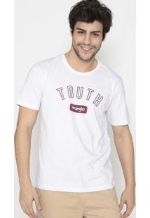 "Camiseta ""Truth""- Branca & Vinhowrangler"