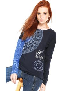 Camiseta Desigual Fresh Azul-Marinho