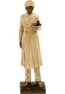 Escultura Decorativa De Resina Indiano Kiran