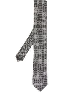 Dolce & Gabbana Gravata Com Estampa Geométrica - Preto