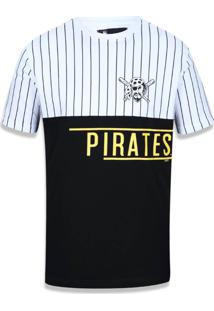 Camiseta New Era Basico M/C Pittsburgh Pirates Branco/Preto