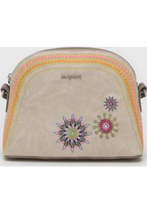 Bolsa Desigual Across Body Bag Ada Bege