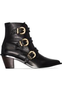 Reike Nen Ankle Boot Com Fivela - Preto