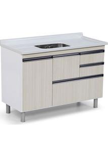 Gabinete Para Cozinha 120Cm Mdp 15Mm Coliseu Palissandro Ártico 118,7X69,5X49,5Cm - Rorato - Rorato