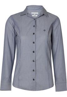 Camisa Ml Feminina Tricoline Ft (Listrado, 44)