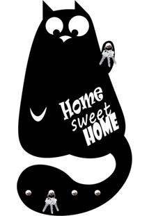 Porta Chaves Home Sweet Home Love Decor Preto - Kanui