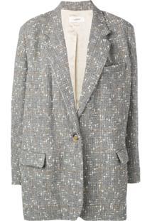 Isabel Marant Étoile Blazer Oversized De Tweed - Cinza