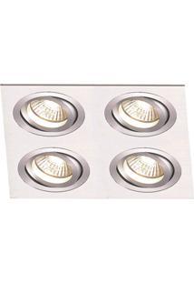 Spot Embutir De Alumínio Ecco 12Cmx34Cmx34Cm Bella Iluminação Alumínio