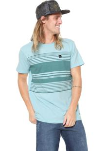 Camiseta Oakley Striped Box Azul