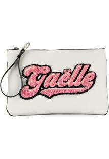 Gaelle Paris Kids Brand Logo Clutch - Branco