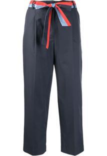 Chinti & Parker Calça Cropped Formal - Azul