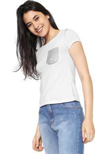 Camiseta Fiveblu Tachas Branca